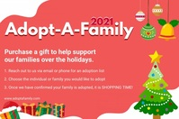 Adopt a Family for the Holidays Banner Affiche template