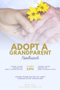 Adopt A Grandparent Flyer Design Template