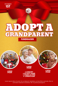 Adopt a Grandparent Fundraiser Flyer Design