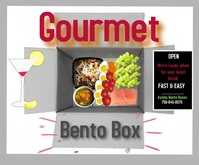 ads/social media/restaurant digital display Stort rektangel template