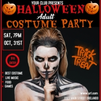 Adult Halloween party event flyer Pos Instagram template