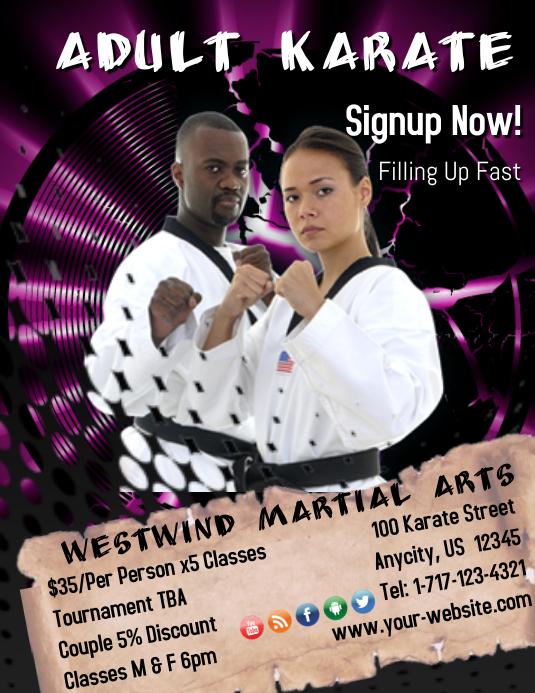 Adult Karate Template Folder (US Letter)