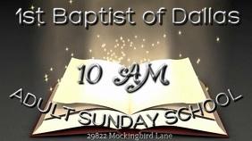 Adult Sunday School Digitalanzeige (16:9) template