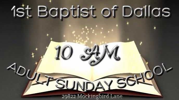Adult Sunday School 数字显示屏 (16:9) template