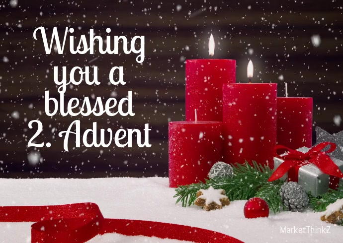 Advent 2 video candles Greeting Card Snow