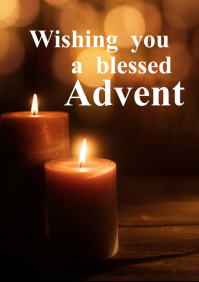 Advent 4 candles Greeting Card christmas