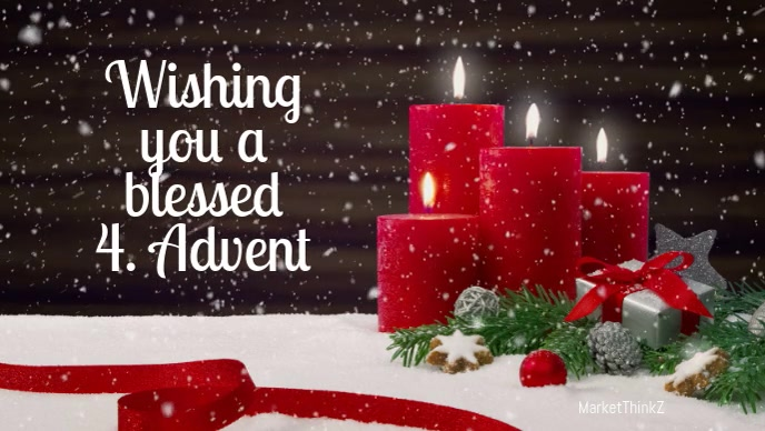 Advent 4 video candles Greeting Card Snow
