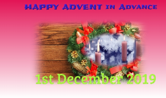 Advent Label template