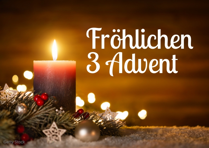 Advent Greeting Card video Wishes Candle 3