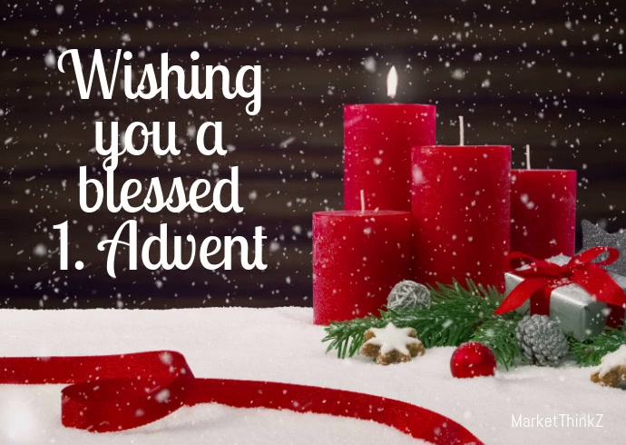Advent Greeting Card video Wishes Candle Snow