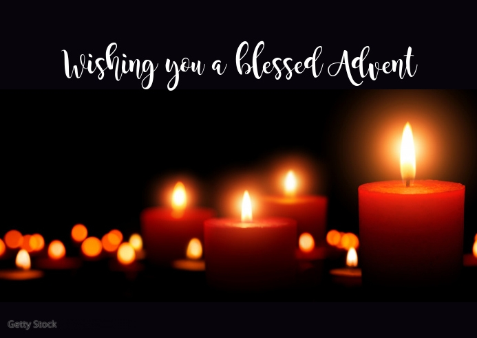 Advent Greeting Wishes Message Greeting Card