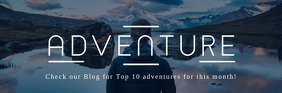 Adventure Blog Email Header template
