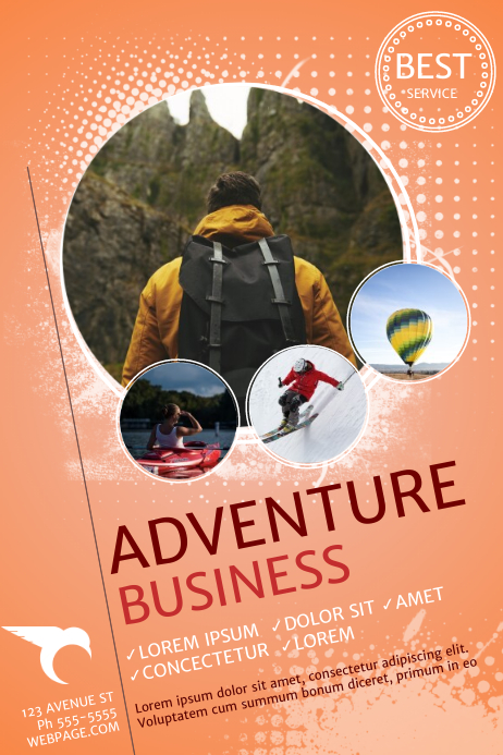 My Adventure Book Printable Cover ~ Adventure business flyer template postermywall