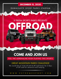 Adventure Jeep Rally Event Flyer Template Ulotka (US Letter)