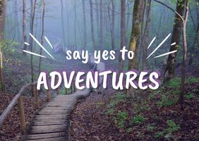Adventure nature postcard