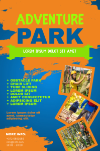 Adventure Obstacle Park Flyer Template