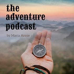 Adventure podcast Album Cover template