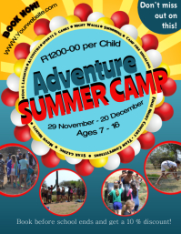Adventure Summer Camp Fleyer