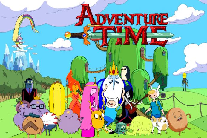 adventure time kids cartoon finn jake party decor template