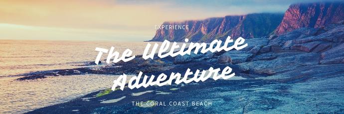 Adventure Travel Twitter Banner template