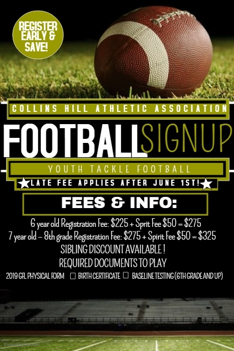 Copy of Football registration