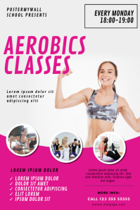 Aerobics Classes Flyer Design template