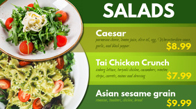 Salads Digital Menu Template