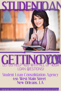 College Student Flyer Poster Tuition Loan