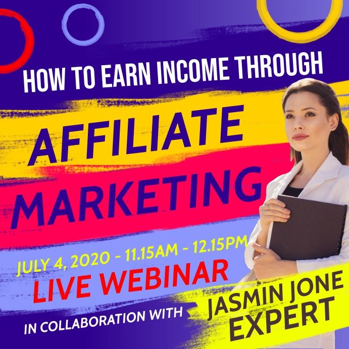 Affiliate Marketing Webinar Template Square (1:1)