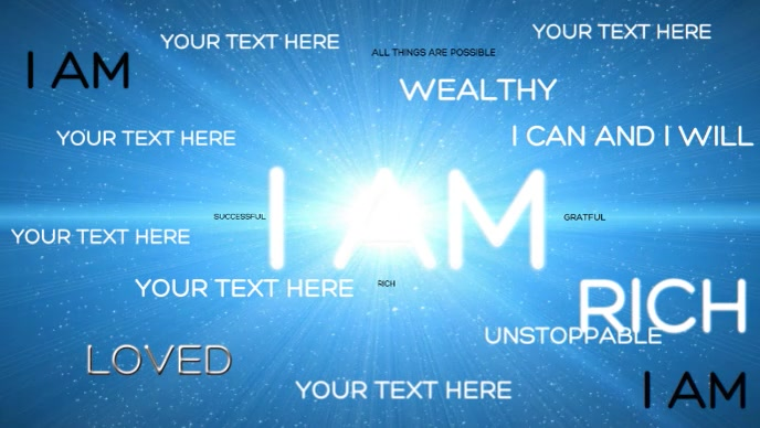 Customize YOUR OWN Affirmation facebook cover