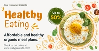 Affordable Healthy Eating Facebook Image Temp template