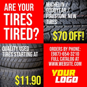 Affordable Tires For Sale instagram post Wpis na Instagrama template