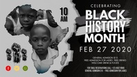 Africa Map Black History Month Facebook Cover Facebook-omslagvideo (16: 9) template