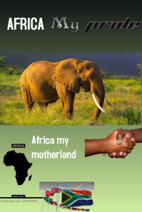 africa my pride Poster template