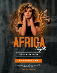 Africa Night Club Party Flyer Template