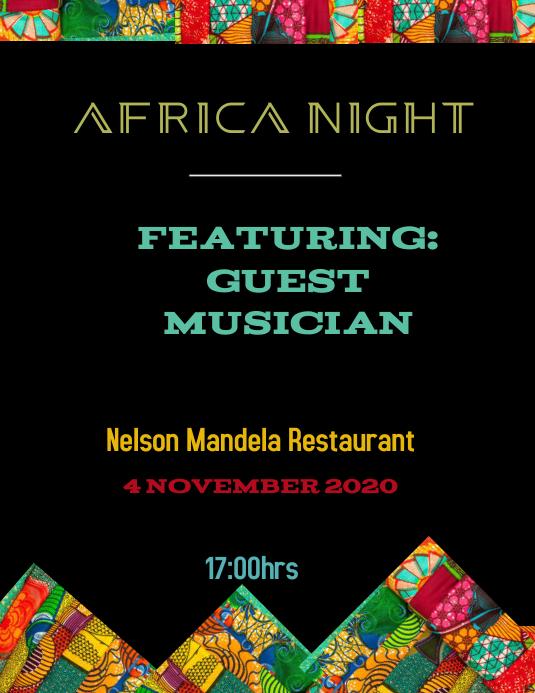 Africa night event flyer