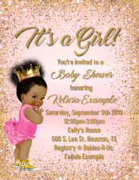 African American Baby Shower Template