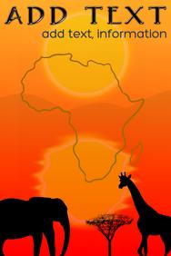 african continent, savannah giraffe, acacia &
