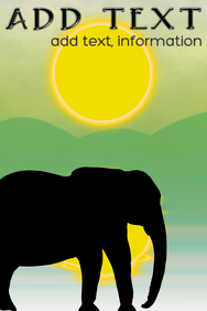 african elephant silhouette under sun