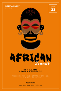 African event flyer template