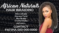 African Hair Braiding Kartu Bisnis template