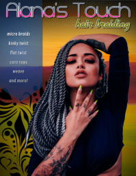 african hair braids weave flyer ad template