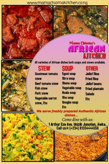 African kitchen poster
