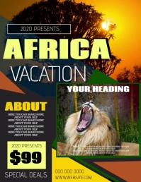 AFRICAN VACATION FLYER POSTER TEMPLATE Volantino (US Letter)