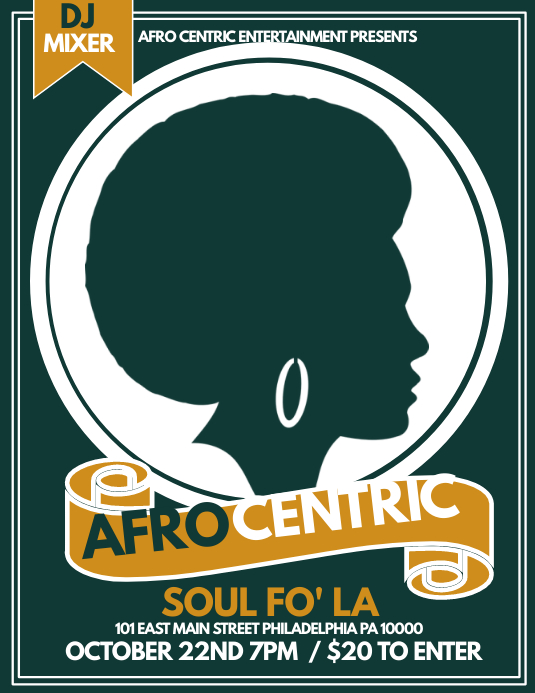Afro Centric Folder (US Letter) template