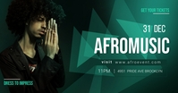 AFROMUSIC DJ facebook shared image template