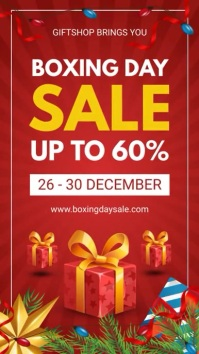 After Christmas Boxing Day Digital Display De template