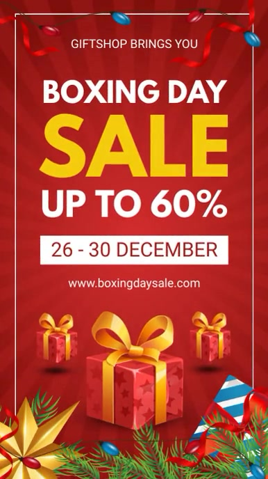 After Christmas Boxing Day Digital Display De