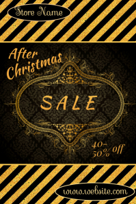 After Christmas Sale Póster template
