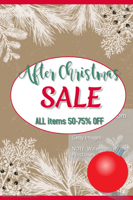 After Christmas Sale Poster
